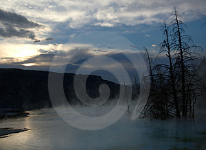 Hot Spring Sunrise Free Stock Photos