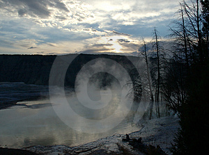 Hot Spring Sunrise Stock Photos