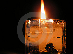 Liquid Candle Stock Photography