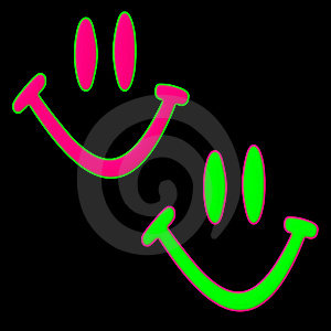 Happy Faces Free Stock Image