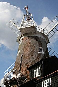 Norfolk Windmill Stock Image