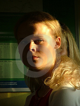 Serious Girl Free Stock Photography