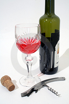 Lets Drink Some Wine Stock Photography