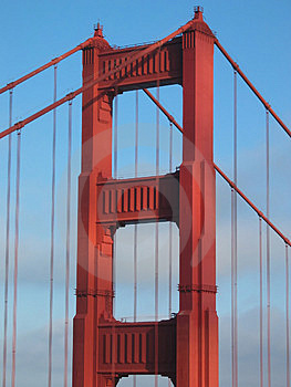 Golden Gate Bridge Tower Stock Image