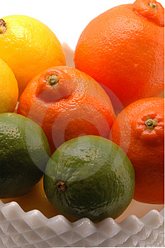 Three Citrus In White Bowl Free Stock Photos