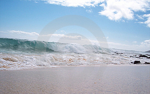 Beach Break Sandys Right Royalty Free Stock Photo