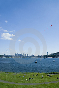 Lake Union From Gas Works Royalty Free Stock Photos - Image: 2508678
