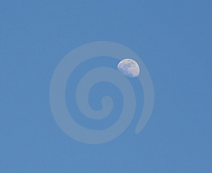 Blue sky moon background Stock Image