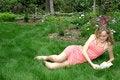 De lezing van de zomer Royalty-vrije Stock Fotografie