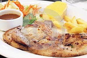 Grilled Pork Chop Stock Image - Image: 25004341