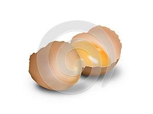 Crashed Egg On White Royalty Free Stock Images - Image: 25008569