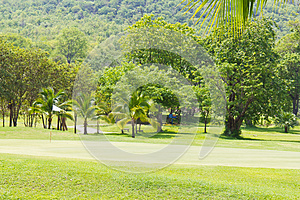 Golf Green Beside The Mountain Royalty Free Stock Photo - Image: 25010605