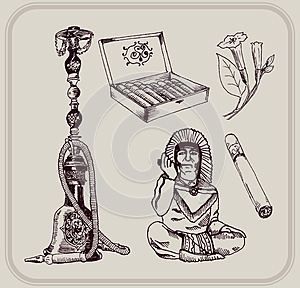 Tobacco And Smoking Royalty Free Stock Photo - Image: 25013305