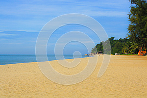Sandy beach Free Stock Image