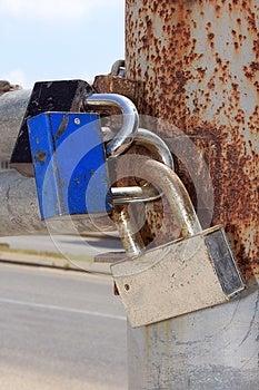 Locks On The Gates Stock Photo - Image: 25014970