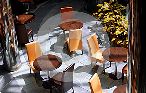 Interior Of Modern Cafe Stock Photo - Image: 25018000