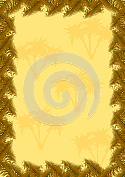Palm Leaves Frame Stock Images - Image: 25026544