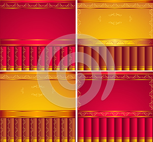 Red,  Gold, Brown  Backgrounds Royalty Free Stock Photos - Image: 25037568