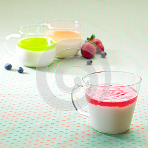 Cups Of Yoghurt Royalty Free Stock Images - Image: 25042339