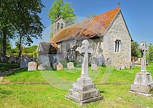 An English Village Church And Bell Tower Royalty Free Stock Photography - Image: 25045127