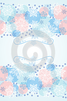Winter Background For Card Royalty Free Stock Images - Image: 25049099
