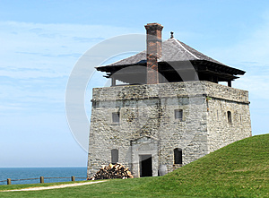 Stone Artillery Guard  Tower Of An Old Fort. Stock Photo - Image: 25051580