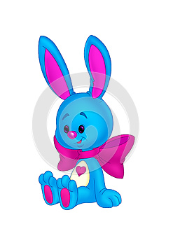 Kids Blue Bunny Royalty Free Stock Photography - Image: 25055437