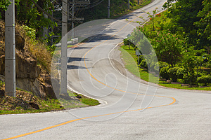 Curved Road Stock Photography - Image: 25059442