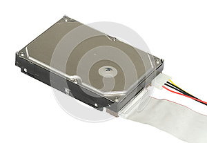 Hard Disk With Connection Cable Royalty Free Stock Photos - Image: 25059768