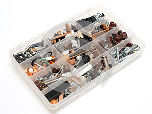 Box With Small Hardware Royalty Free Stock Image - Image: 25064956