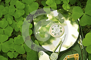 Hdd In Grass Stock Photography - Image: 25073662