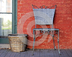 Chair And Basket Stock Image - Image: 25099061