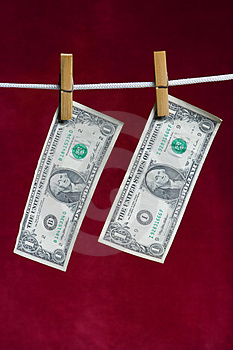 Two American Dollar Royalty Free Stock Photos - Image: 2512968