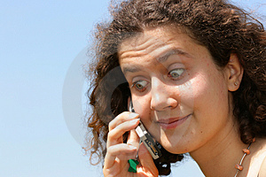 Amazed Girl With Cell Phone Stock Images - Image: 2514094