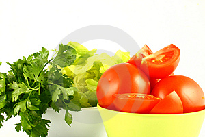 Salat tomato Royalty Free Stock Photos