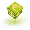 Money dices Stock Photos