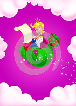 Fairy Tale Little Prince Royalty Free Stock Images - Image: 25104749
