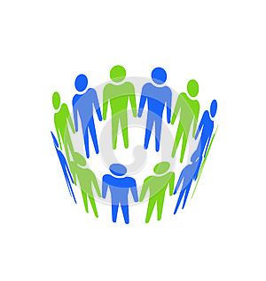 Teamwork Abstract Icon Stock Photos - Image: 25105193