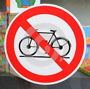 No Cycling Royalty Free Stock Photos - Image: 25112218