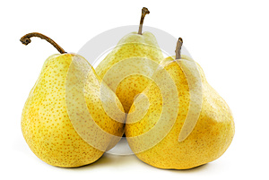 Three Pears Stock Photo - Image: 25112420