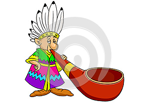 Red Indian Cartoon Royalty Free Stock Photography - Image: 25113497