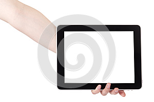 Hand Holding Digital Tablet Stock Photos - Image: 25121353