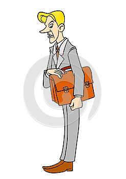 Dissatisfied Working Cartoon, Royalty Free Stock Photography - Image: 25126897