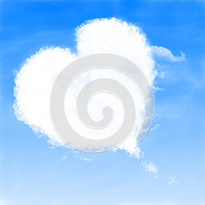 Heart Shaped Cloud Stock Photography - Image: 25130872