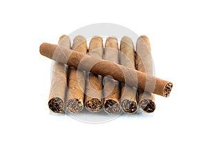 Cigars On White Stock Image - Image: 25153461