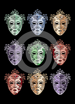 Masques Royalty Free Stock Photography - Image: 25161007
