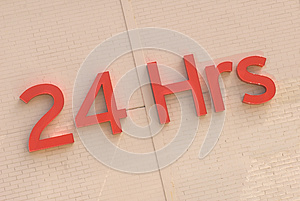 24 Hour Sign Stock Images - Image: 25161104
