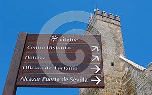 Seville Landmarks Signs. Stock Photo - Image: 25162640