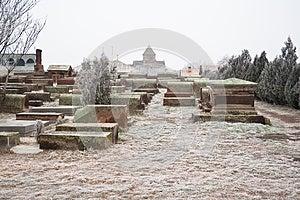 Church Cemetery In Echmiadzin. Armenia Stock Photo - Image: 25164640