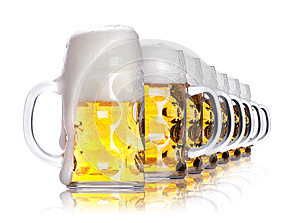 Frosty Glass Of Light Beer Stock Images - Image: 25167914